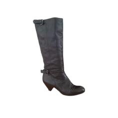 Cowboy Boots MAJE Black