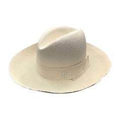 Hat MAISON MICHEL White, off-white, ecru