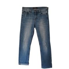 Jeans large, boyfriend THE KOOPLES Bleu, bleu marine, bleu turquoise