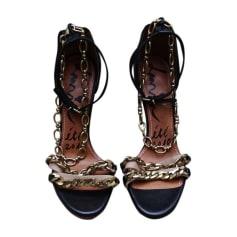 Heeled Sandals LANVIN Noir/Beige
