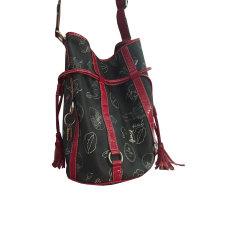 Leather Shoulder Bag LANCEL Gray, charcoal