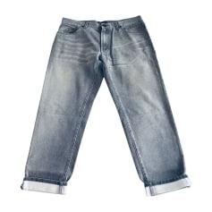 Jeans droit DOLCE & GABBANA Gris, anthracite