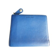 Wallet COACH Blue, navy, turquoise