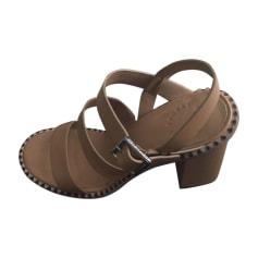 Sandales à talons MARC JACOBS Beige, camel