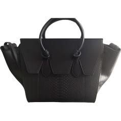 Leather Handbag CÉLINE Tie Black