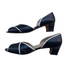 Peep-Toe Pumps SALVATORE FERRAGAMO Blue, navy, turquoise