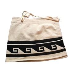 Jupe courte ISABEL MARANT Blanc, blanc cassé, écru