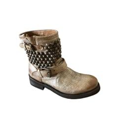 High Heel Boots ASH Golden, bronze, copper