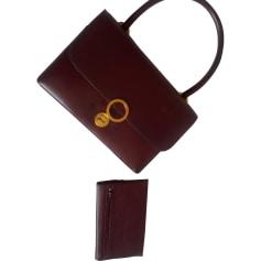 Lederhandtasche HERMÈS Rot, bordeauxrot