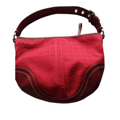 Non-Leather Handbag COACH Red, burgundy
