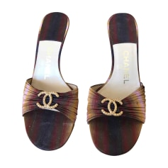 Heeled Sandals CHANEL Brown