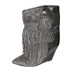 Wedge Ankle Boots ISABEL MARANT Bekett Gray, charcoal
