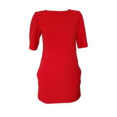 Robe courte MAJE rouge orangé
