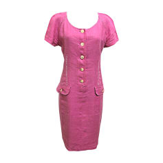 Midi Dress VALENTINO Pink, fuchsia, light pink