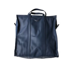 Leather Handbag BALENCIAGA Bazar Blue, navy, turquoise
