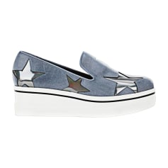 Sneakers STELLA MCCARTNEY bleu blanc et étoiles argentés