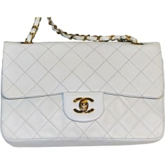 Leather Shoulder Bag CHANEL Timeless White, off-white, ecru