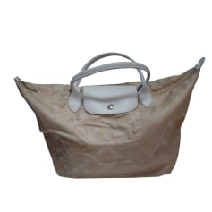 Non-Leather Handbag LONGCHAMP Beige, camel