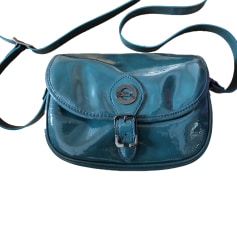 Leather Shoulder Bag LONGCHAMP Bleu petrole