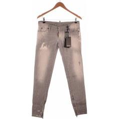 Jeans droit DSQUARED Gris, anthracite