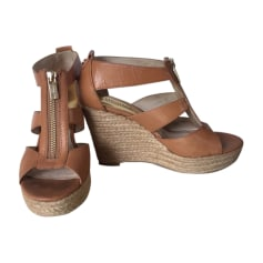 Wedge Sandals MICHAEL KORS Beige, camel