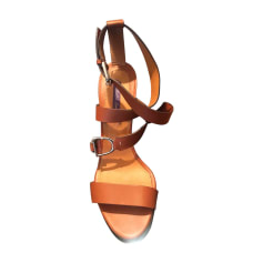 Sandales à talons RALPH LAUREN Beige, camel