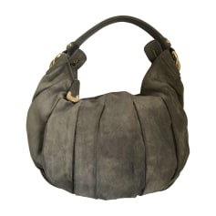 Leather Shoulder Bag BALLY Gray, charcoal