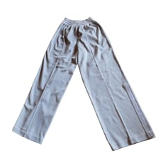Pantalon large CHANEL Gris, anthracite