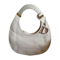 Leather Oversize Bag DIOR White, off-white, ecru