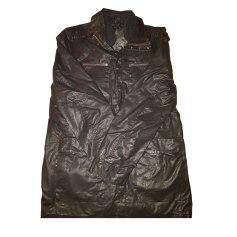 Manteau en cuir IKKS Noir