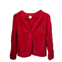 Vest, Cardigan DES PETITS HAUTS Red, burgundy