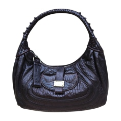 Leather Handbag FENDI Brown