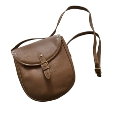 Leather Shoulder Bag RENOUARD Beige, camel