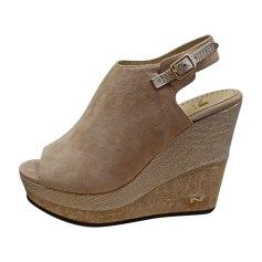 Sandales compensées NATAN Beige, camel