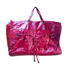 Leather Oversize Bag MANDARINA DUCK Red, burgundy