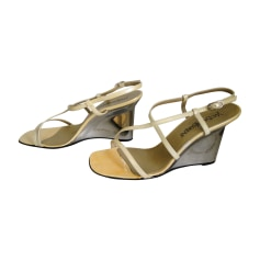 Wedge Sandals YVES SAINT LAURENT White, off-white, ecru