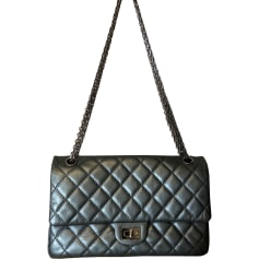 Leather Shoulder Bag CHANEL Gray, charcoal