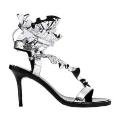 Sandales à talons ISABEL MARANT Argenté, acier