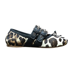 Ballet Flats MIU MIU Animal prints