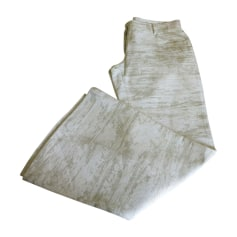 Pantalon évasé DOLCE & GABBANA Blanc, blanc cassé, écru