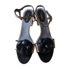Sandales à talons CHANEL Multicouleur