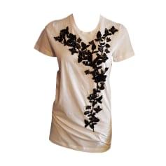 Top, tee-shirt DSQUARED2 Blanc, blanc cassé, écru