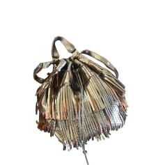 Leather Shoulder Bag GERARD DAREL Silver