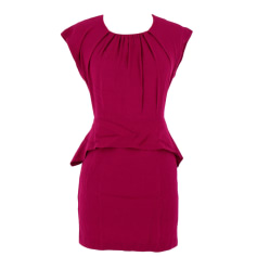 Midi Dress SANDRO Pink, fuchsia, light pink