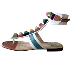 Flat Sandals FENDI Multicolor