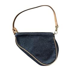 Sac à main en tissu DIOR Bleu, bleu marine, bleu turquoise