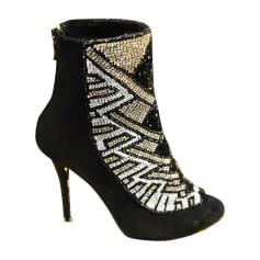 Bottines & low boots à talons BALMAIN X H&M Noir
