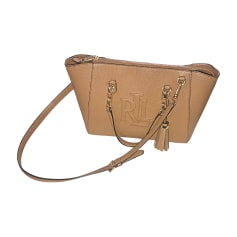 408ca9368354 Leather Handbag RALPH LAUREN Beige