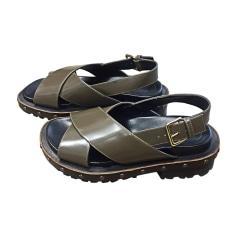 Flat Sandals MARNI Khaki