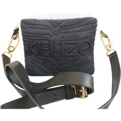 Leather Handbag KENZO White, off-white, ecru